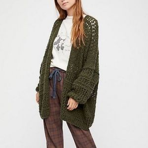 Free People Saturday Morning Wool Chunky Cardigan